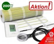 AKTION - Elektrische Fußbodenheizung 200 W/m² 4,0 m² | digital