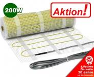 AKTION - Elektrische Fußbodenheizung 200 W/m² 4,0 m² | ohne