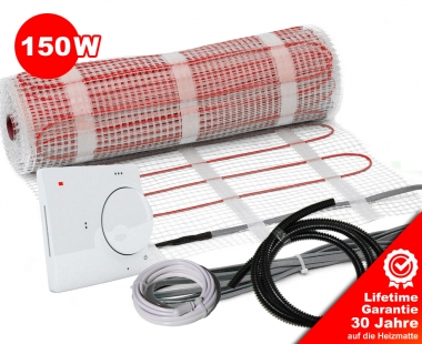 Heizmatten Set BZ-150 analog 1 m²