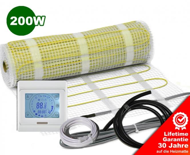 AKTION - Elektrische Fußbodenheizung 200 W/m² - 1m²