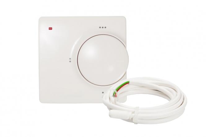 set f r elektrische bodenheizung unter fliesen mit analogem thermostat. Black Bedroom Furniture Sets. Home Design Ideas