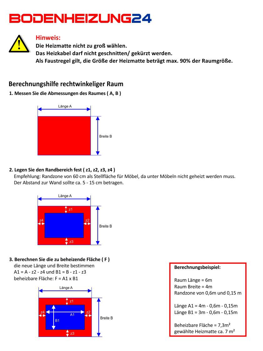 Heizmatten Set 150w M Parkett O Laminat Mit Touchscreen Thermostat